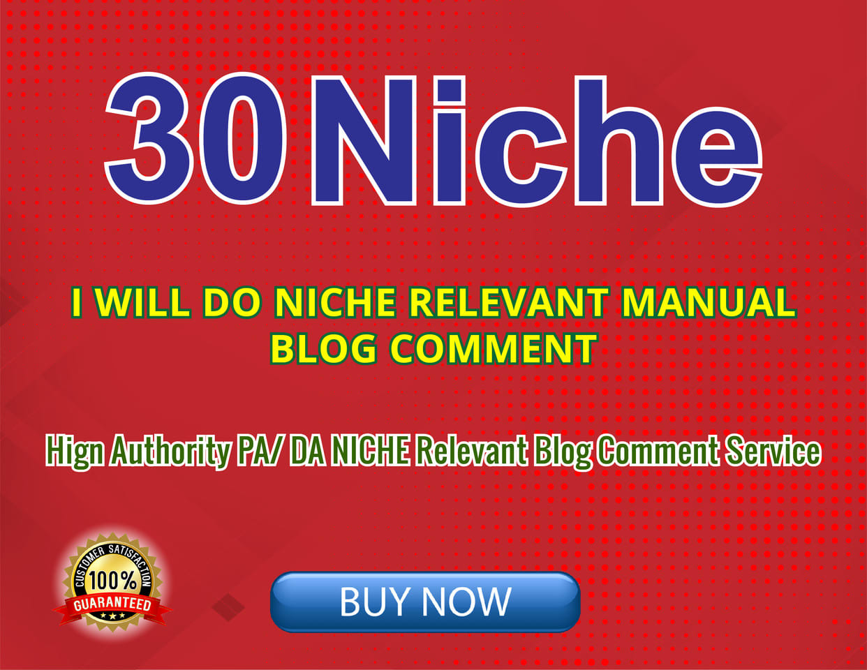 provide 30 niche relevant blog comments backlinks high quality