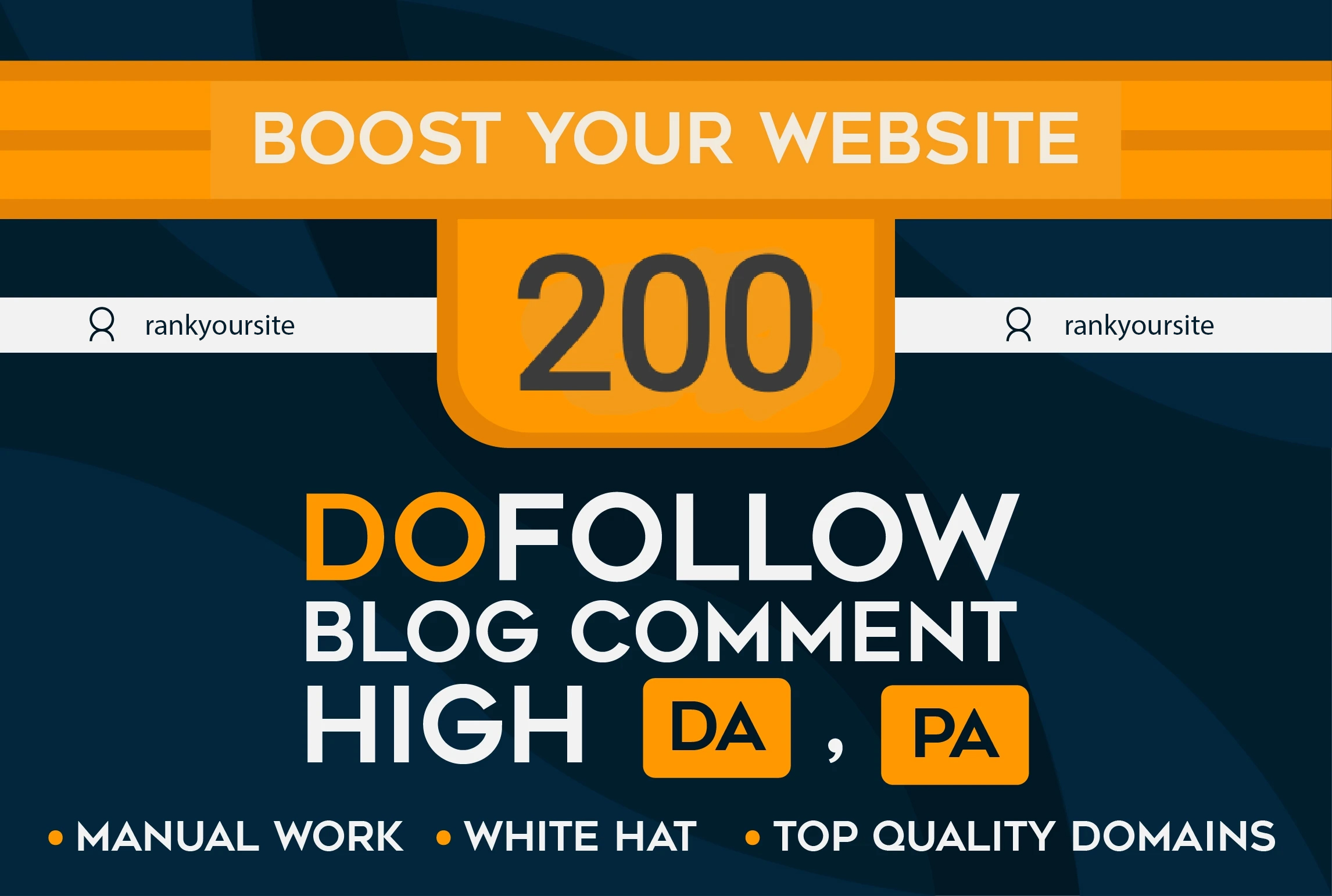 Provide 200 High Quality Dofollow Blog Comments Backlinks