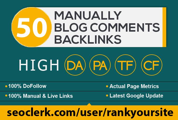 provide 50 dofollow blog comment seo backlinks