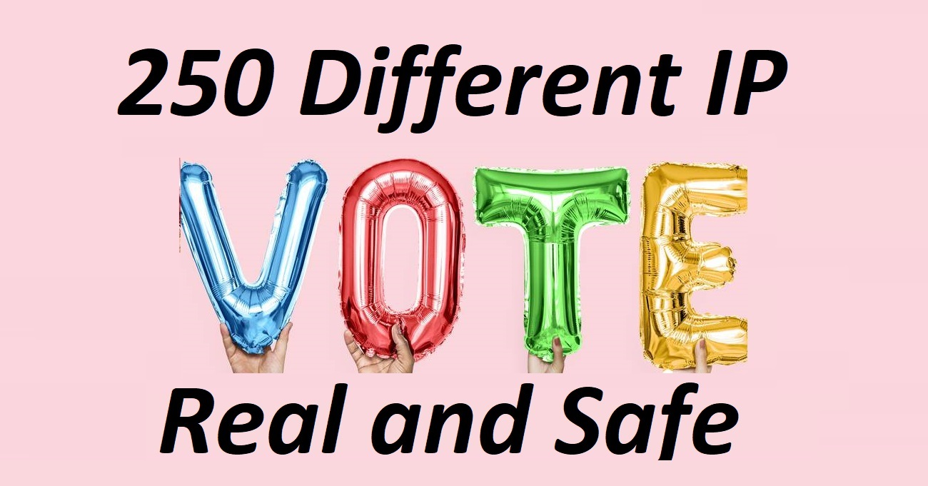 Get offer good 250 Different IP votes contest that you are participating