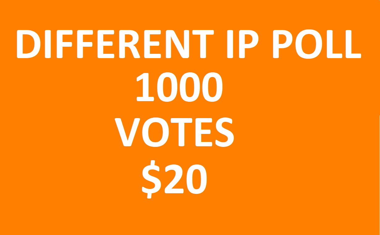 Get offer 1000 Different IP votes contest that you are participating