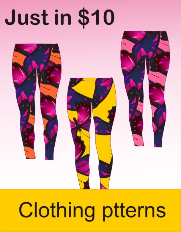 design trendy pattern for your t shirt and leggings