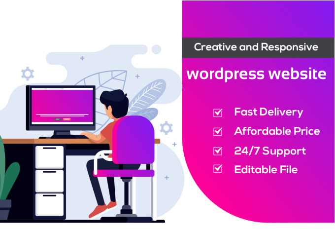 I will create responsive wordpress website design