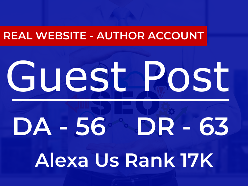 Published Guest post Backlinks On DR63/DA56 Website with 2 Dofollow Backlinks