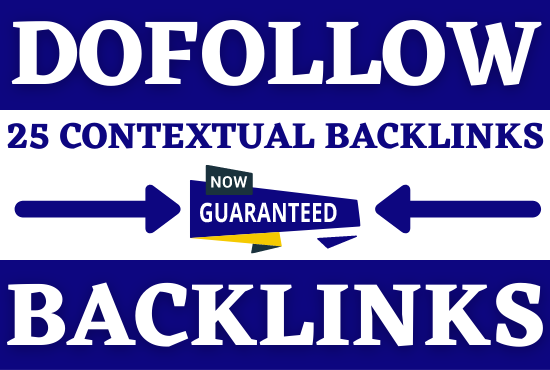 I will build 25 high authority dofollow backlinks,  off page SEO