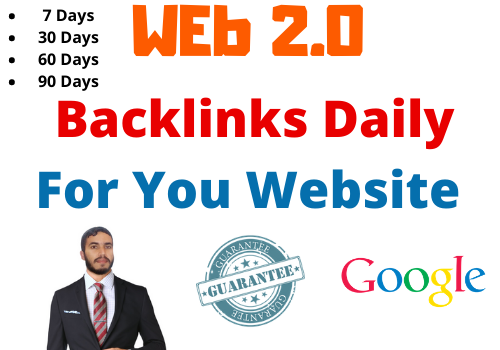 Work Daily - 20 Backlinks Daily - Web 2.0 blogs Very High indexer,  1000 Unique Article 7 Day+