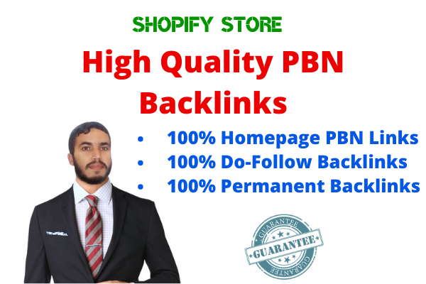 Create 10 High PA DA TF CF Homepage PBN Dofollow Backlinks For your Ecommerce Store