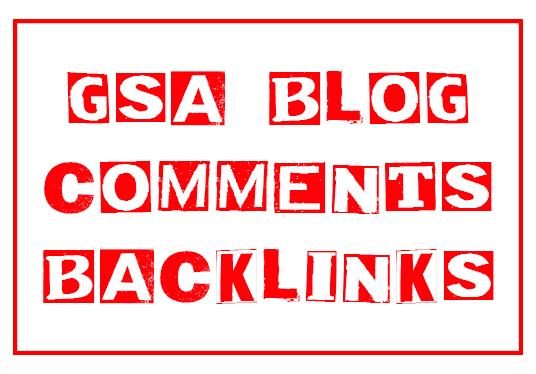10,000 GSA Blog Comments Backlinks