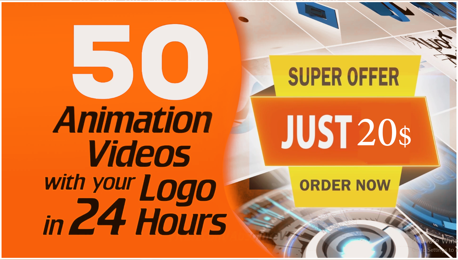 create 50 professional video animation intro or outro for your logo or brand name