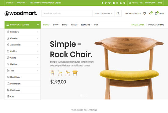 Install the woocommerce theme just like demo