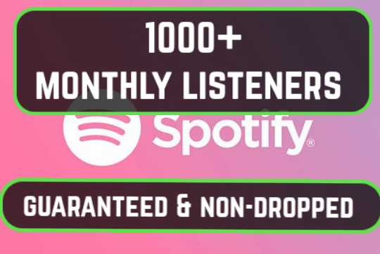 Exclusive 1000+ Monthly Spootify Listeners Promotion For Artist Profile