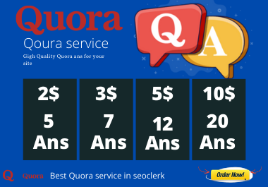 promote website with 5 Quora High view answers