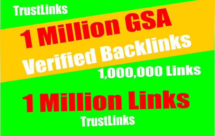 1 Million GSA SER Backlinks easy Link Juice- & Faster Index