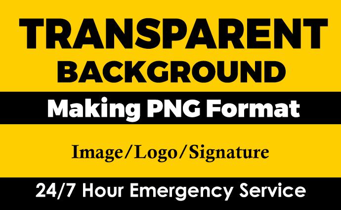 I will make image or logo transparent background PNG