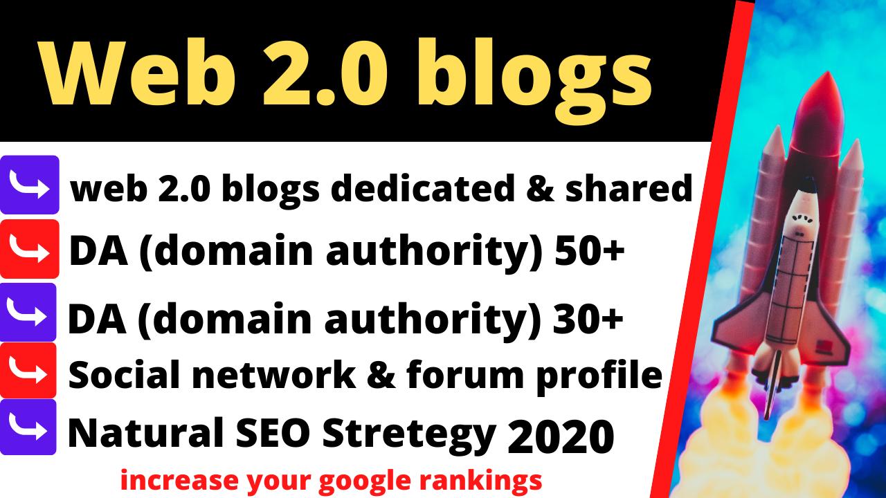 provide you high authority seo web 2.0 backlinks