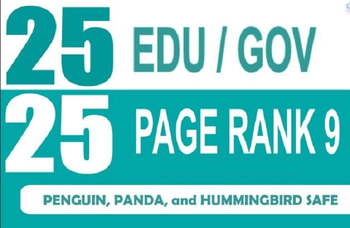Add 25 Edu and Gov Moz DA50+ Most Trusted Backlinks To Boost Ranking