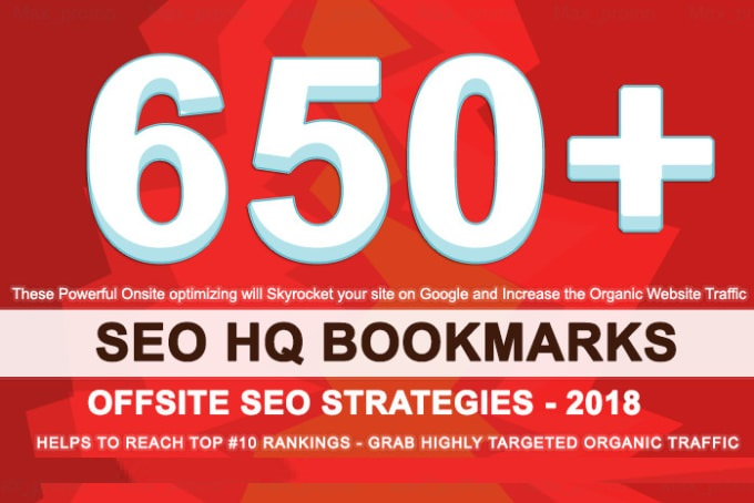 650 HQ Social Bookmarks Backlinks DA-PA-TF 100-80 for...