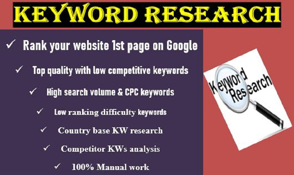 I will do 30 Best SEO keywords research that are relevant to your niche