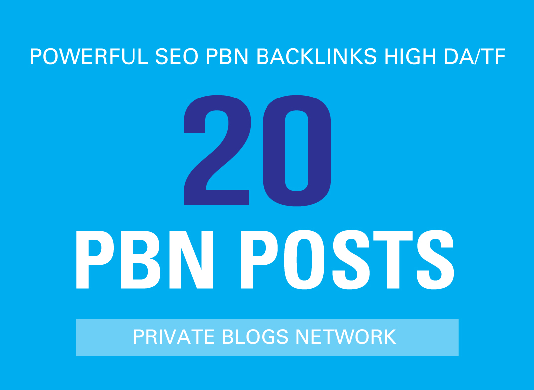 I Will Create Manually 20 Powerful SEO PBN Backlinks from High Authority Sites