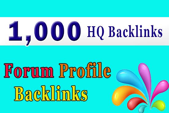 bulid 1000 with high da forum backlinks