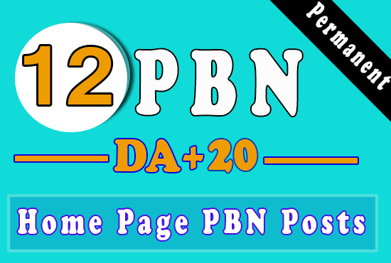 Build 12 Permnent PBN Homepage Backlinks, Dofollow Quality Links