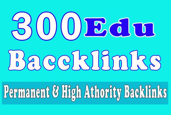 300 Edu Backlinks with high trust authority safe link building seo backlinks