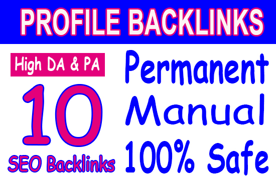 Manual 10 SEO Backlinks From 50+ 100 DA domains best SEO HELP fast indexing