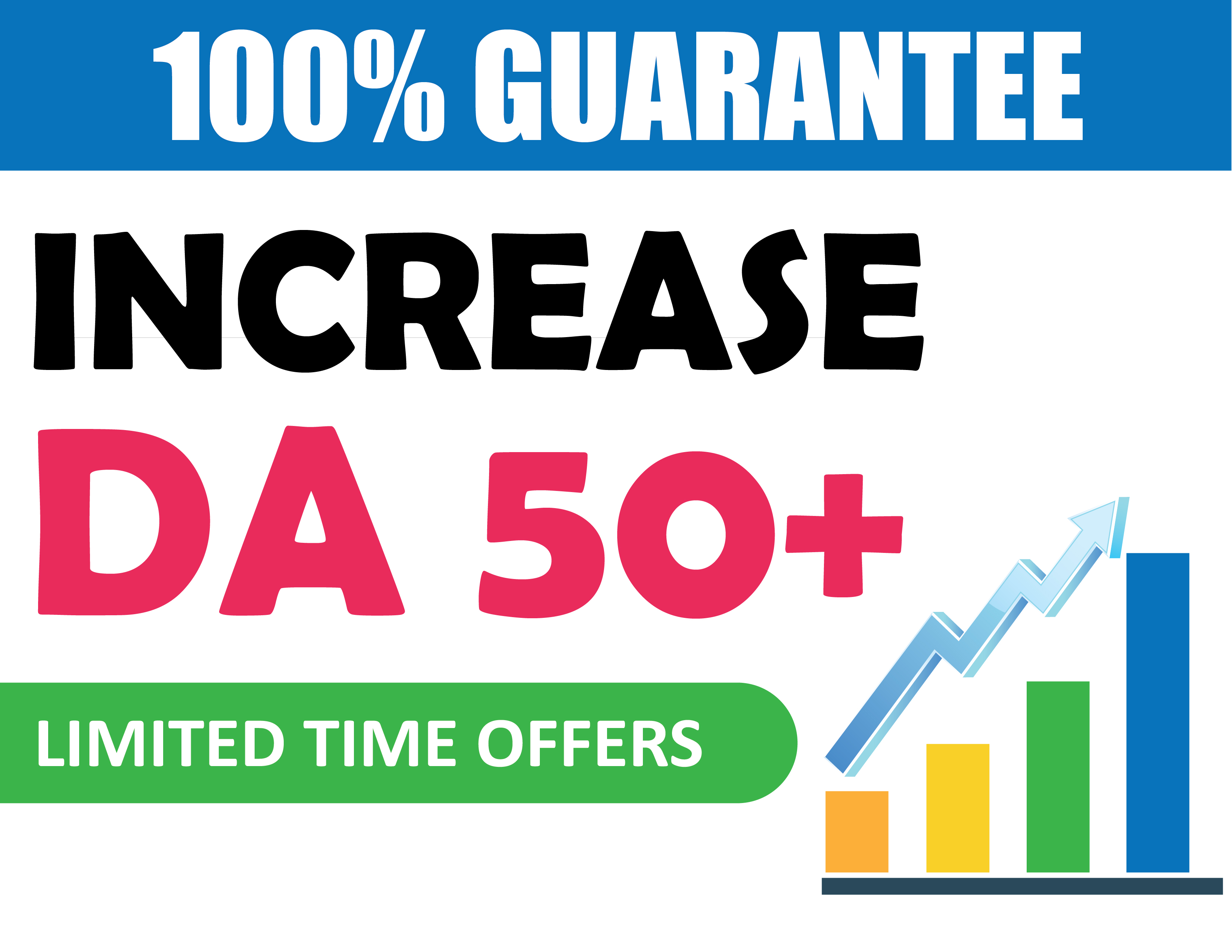Increase your website MOZ DA 50+ & PA 30+ Permanent Domain Authority using SEO backlines no spams