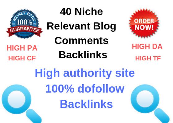 40 Niche Relevant Manual Blog Comments