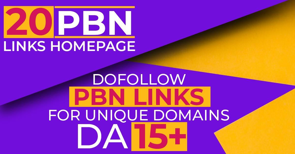Buy 20 high DA PA permanent pbn backlinks Unique domains Dofollow