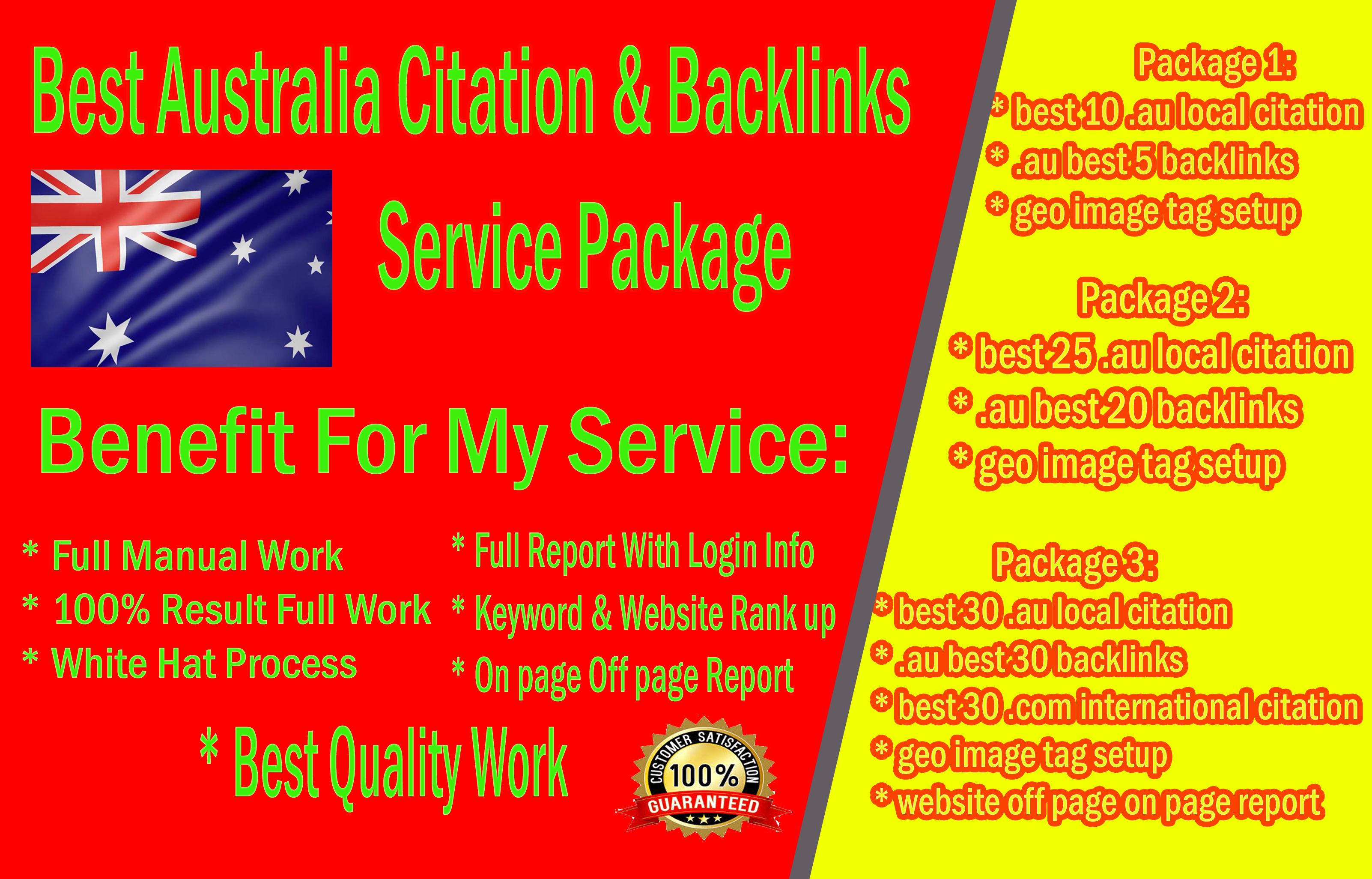 Best Australia Citation And Backlinks SEO service