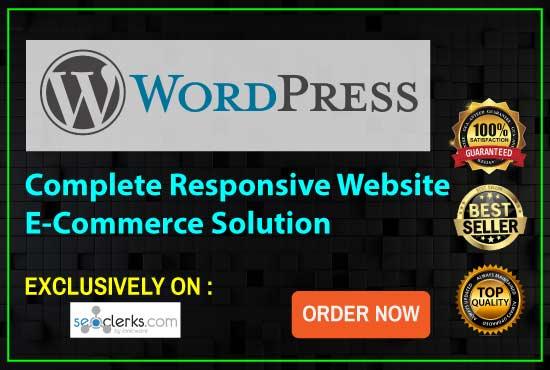 I Convert PSD To Wordpress Or Html Responsive Website...
