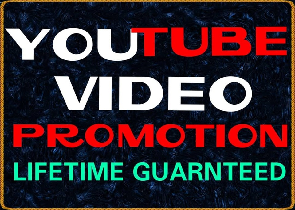 NON-DROP & HIGH QUALITY YOUTUBE PROMOTION 6 hrs Delivery