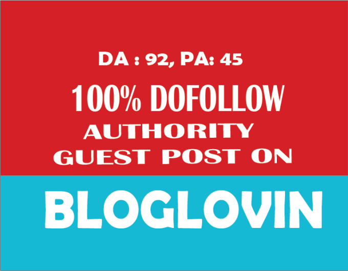 I will Write and publish guest on Bloglovin with high DA