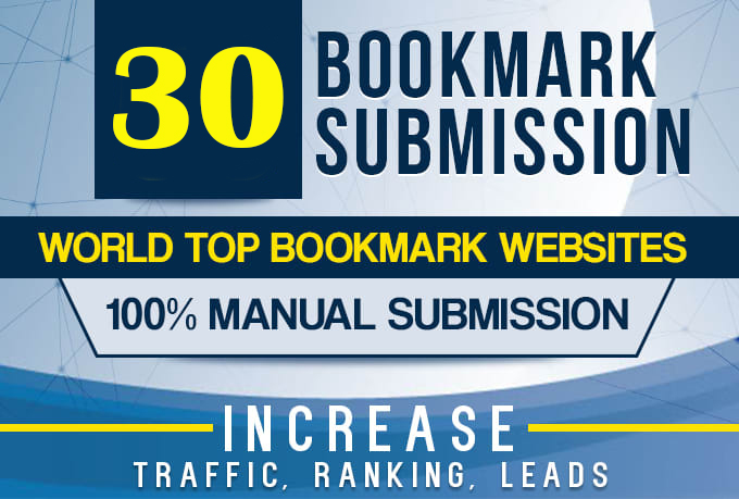 Manually 30 Bookmark Submission Backlinks High Pa Da Cf Tf