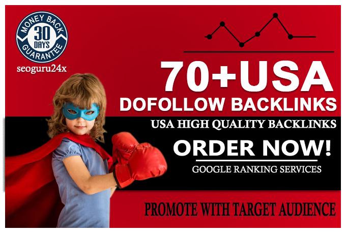 Give you 70 USA Dofollow High DA PA Profile Backlinks