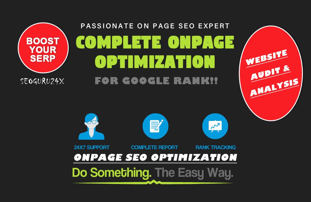 Complete Onpage SEO Optimization For Your Website