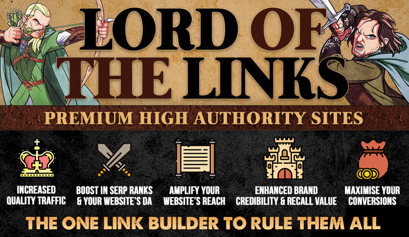 LORD OF THE LINKS - Premium High Authority Sites for Speedy 1 Google Page Ranking