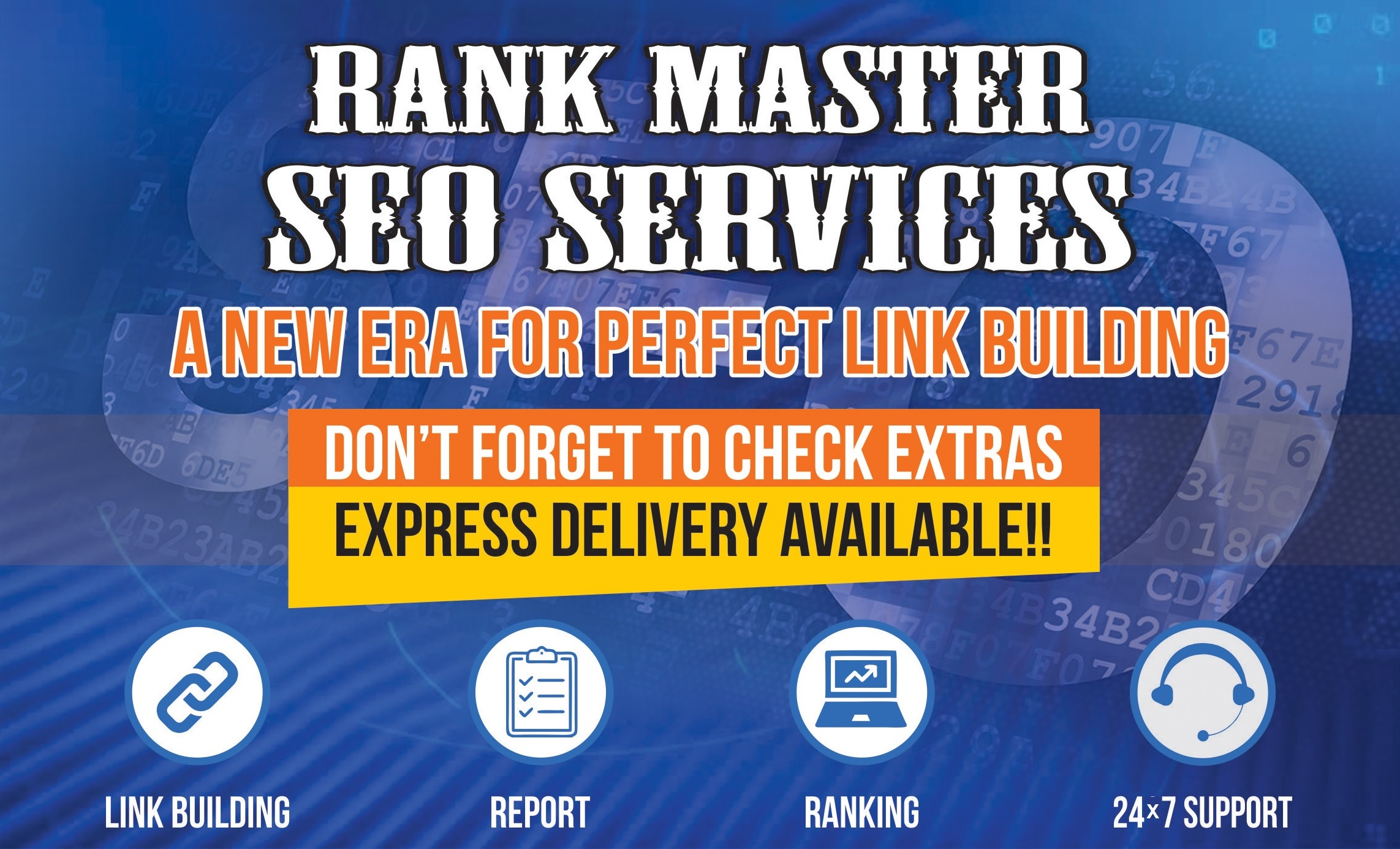 Rank Master Google SEO services with manual high authority backlinks
