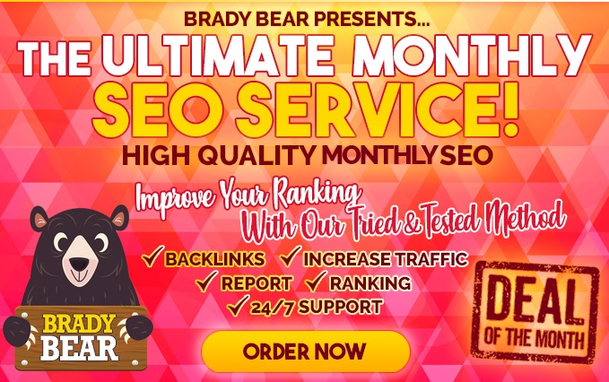 Monthly SEO Service for High Authority Quality Backlinks