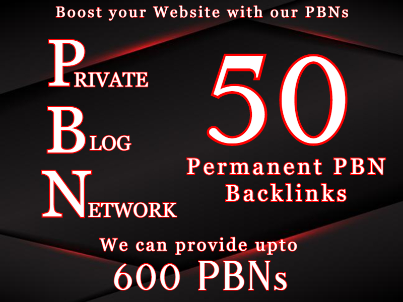 Boost website with 50 Permanent PBN Backlinks