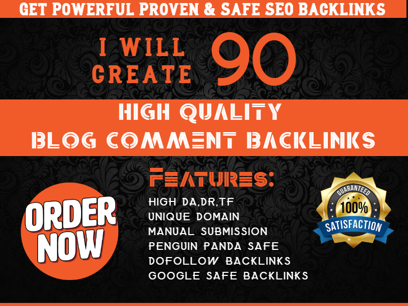 Create 90 Blog Comments Backlinks DA at least 20