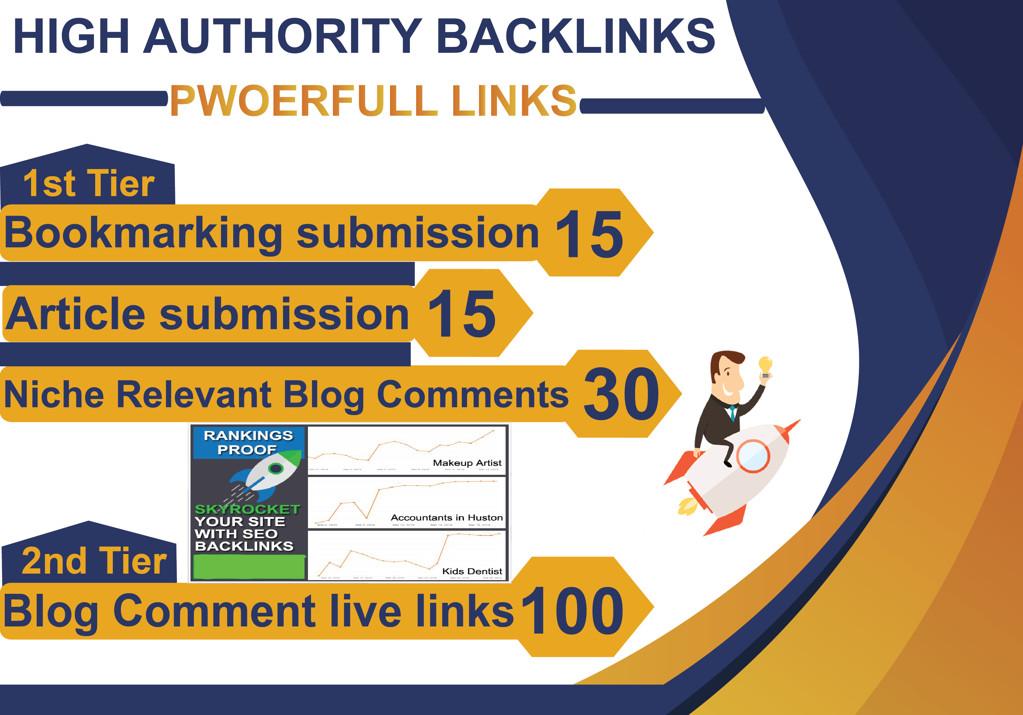 I will create high quality SEO backlinks link building