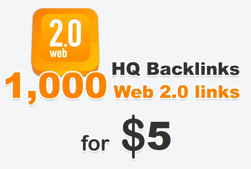 Provide You more than 1000 High quality Web 2.0 profile links