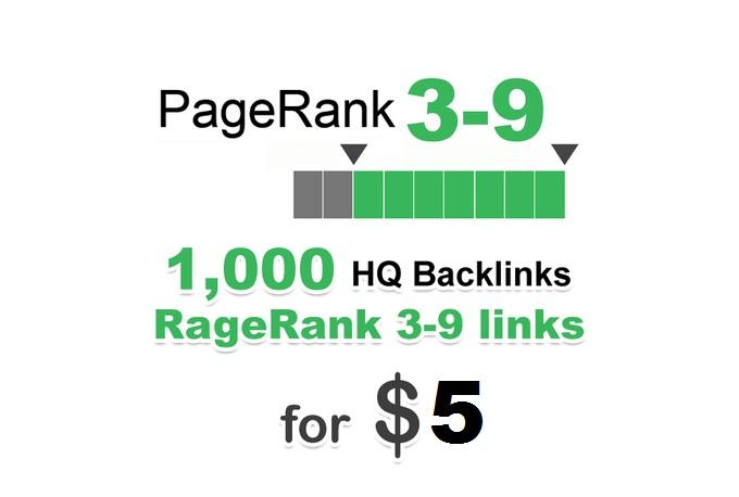 Provide 1000 PR 3-9 backlinks best for Your SEO