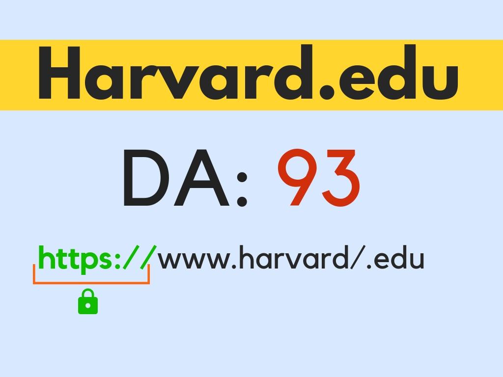 Guest post on Harvard University Blogs. Harvard. edu DA95+