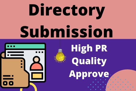 Provide 100 directory submissions to rank up website from high authority websites