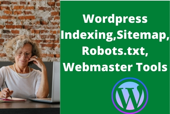 I will index your WordPress website on google,  bing search console setup robots. txt and webmasters