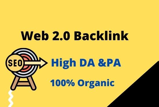 I can create 50 web 2.0 manual high quality Backlinks.