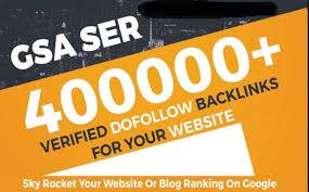 Provide 400,000 GSA high-quality BACKLINKS